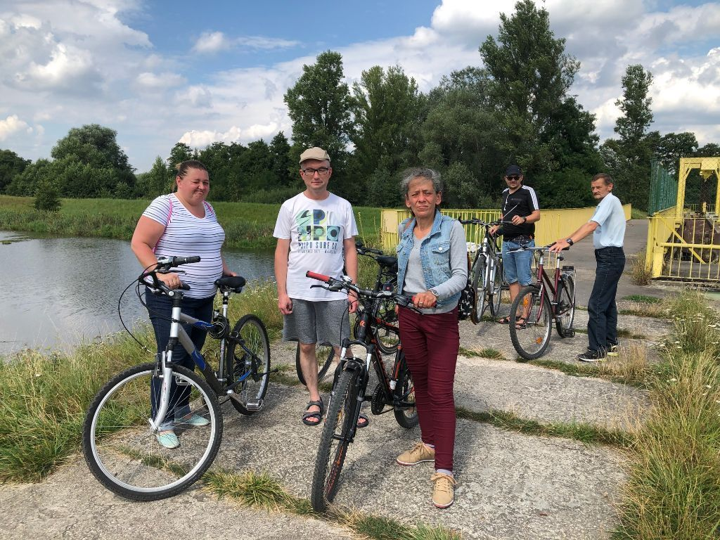 wycieczka uczestników projektu Akcja Aktywizacja rowerowa na Romanów