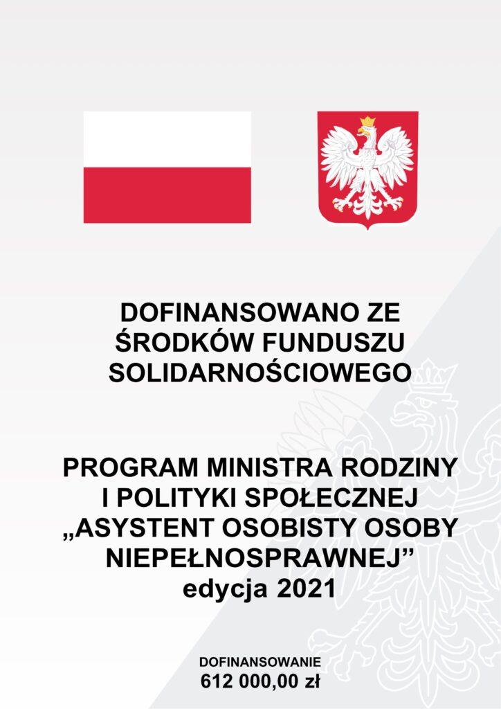 """Program Ministra Rodziny i Polityki Społecznej """"Asystent osobisty osoby niepełnosprawnej"""" dofinansowanie 612000,00"""