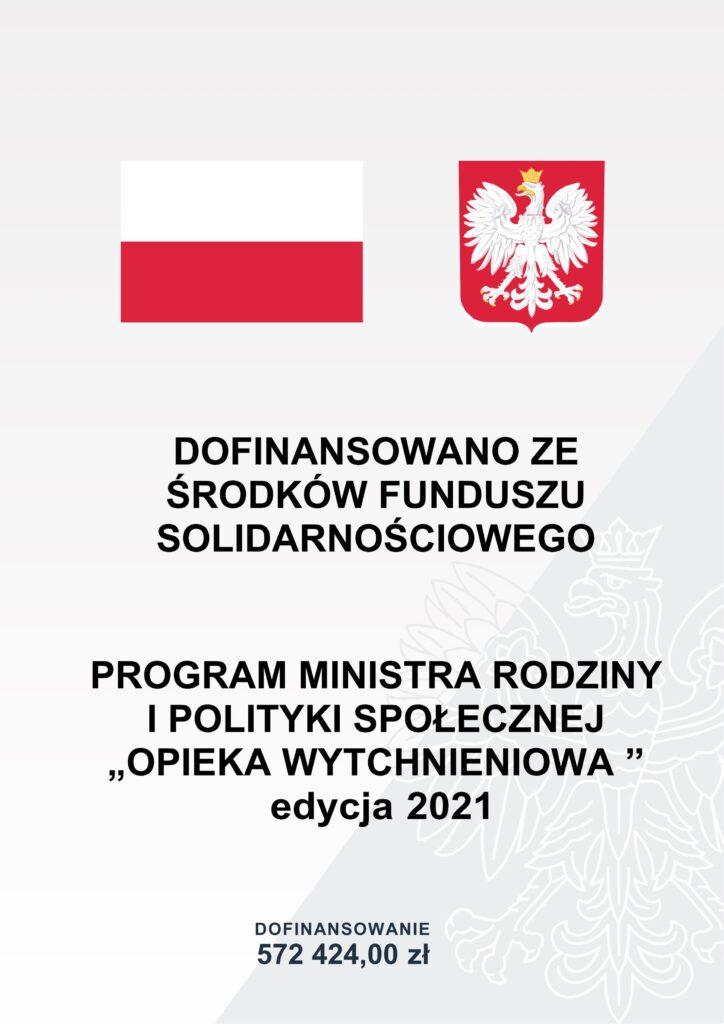 """Program Ministra Rodziny i Polityki Społecznej """"Opieka wytchnieniowa"""" dofinansowanie 572424,00 zł"""